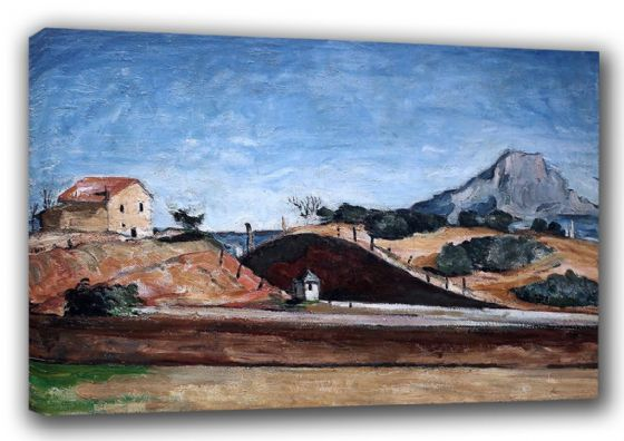 Cezanne, Paul: The Railway Cutting. Fine Art Landscape Canvas. Sizes: A3/A2/A1 (00103)